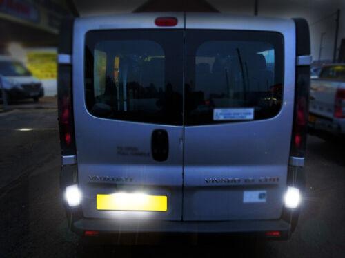 2x Vauxhall Vivaro 01-14 Canbus Bright White LED Number Plate Light Bulbs *SALE*