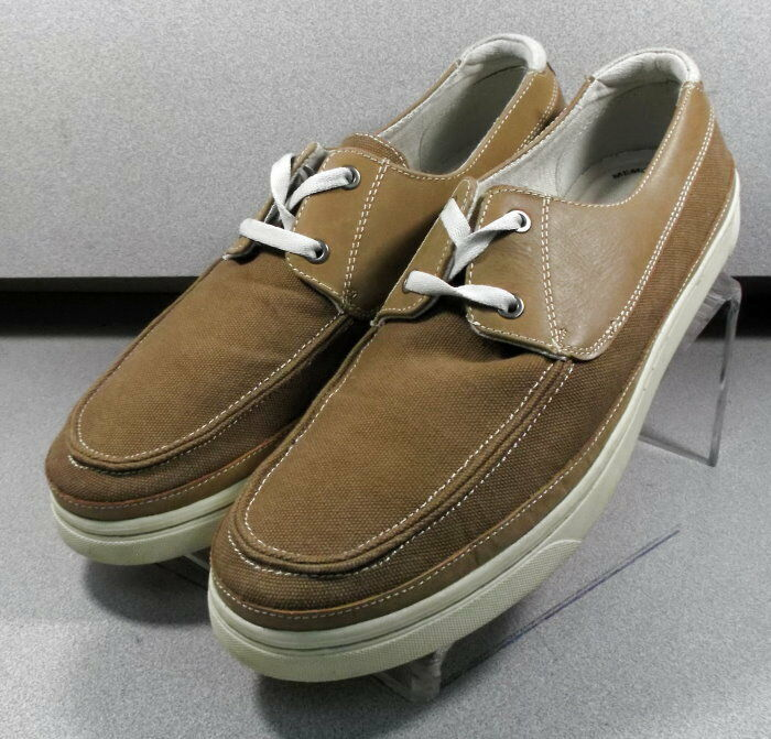 5932948 WT38 Men's shoes Size 10.5 M Tan Canvas Johnston Murphy Walk Test
