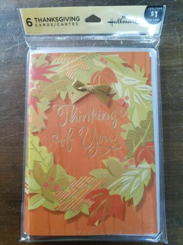Thanksgiving HALLMARK Card Pack **MULTIPLE DESIGNS** friend family sharing love