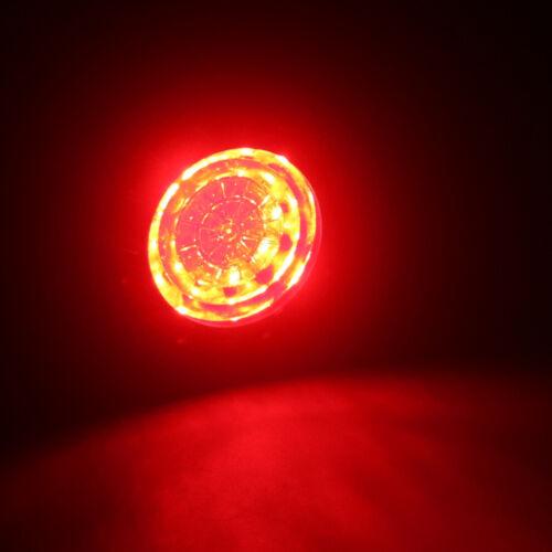 Metal Chrome Bullet LED Brake Blinker Light Turn Signal Light For Harley Honda