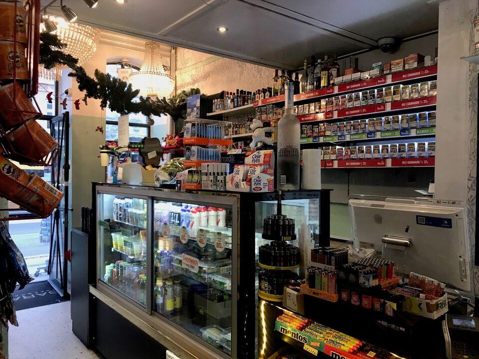 Kbh K. - Kiosk med till. til kold mad - Afstås