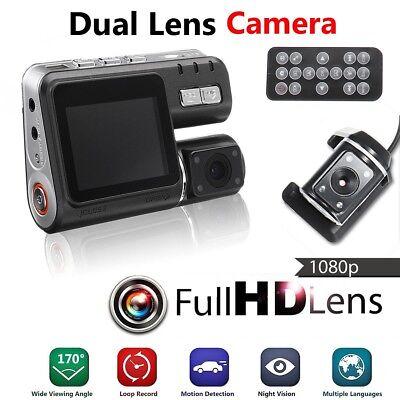1080P HD Dual Lens Car Camera DVR Video Recorder G-Sensor Dash Cam Night Vision