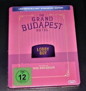 GRAND Budapest Hotel limiiterte Steelbook Edition Blu Ray SPEDIZIONE VELOCE NUOVO