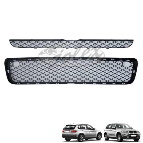 Kühlergitter Kühlergrill Frontgitter Grill schwarz matt SET BMW X5 E70 07-10 NEU