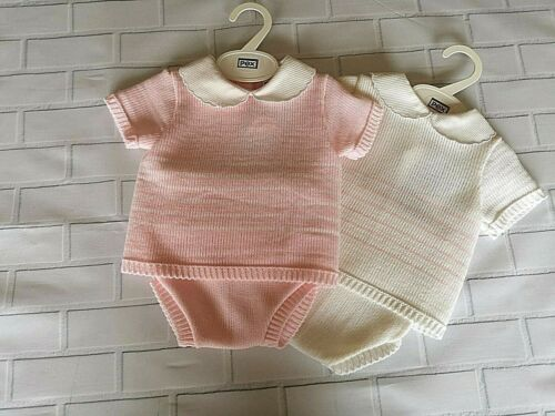 Baby Girls Beautiful  Pex Spanish Kinitted Romper Free Postage £12.99