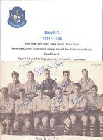 BURY 1951-1952 RARE ORIGINAL HAND SIGNED TEAM GROUP WITH 11 X SIGNATURES