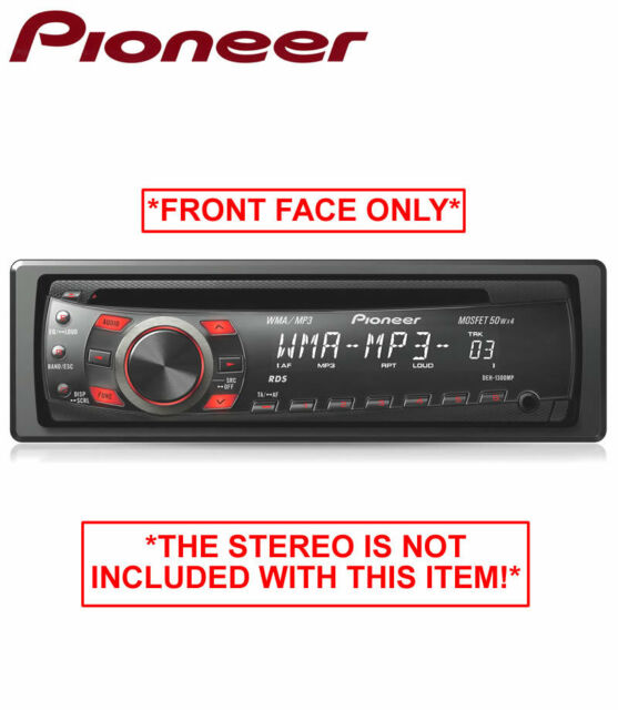 Pioneer DEH-1300MP stereo face, CD Auxiliary in car radio *FRONT FACE ONLY*