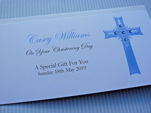 Holy Communion  Money Wallet Gift Card Personalised Christening Baptism