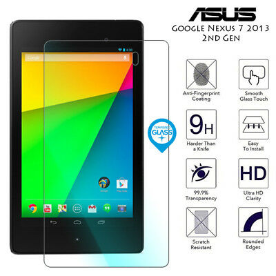"""Clear Tablet Glass Screen protector Guard For Asus Google Nexus 7 2013 7/"""""""