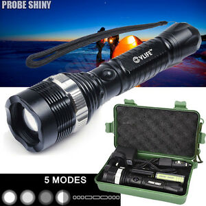 Super Bright 6000 LM XM-L T6 LED Adjustable Focus Zoomable Flashlight Torch Kit