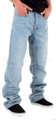 Is Money Time Hip Hop Skater SWB Rocawear Mens Double R Loose Fit Denim Jeans