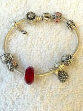 Pre-Owned, Genuine PANDORA, Gorgeous,925, W/H 10, Cute, Charms Bracelet/Jewelry