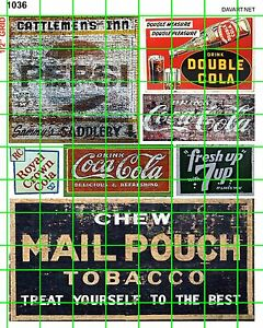 1036-DAVE-039-s-DECALS-GHOST-SIGNS-MIXED-MID-CENTURY-SODA-SIGNAGE-MAIL-POUCH-TOBACCO