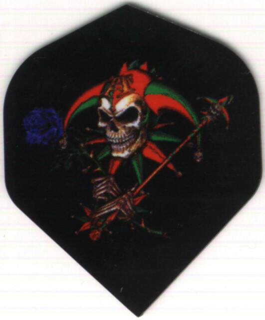 Jester Skull with Scepter Dart Flights: 2 sets of 3