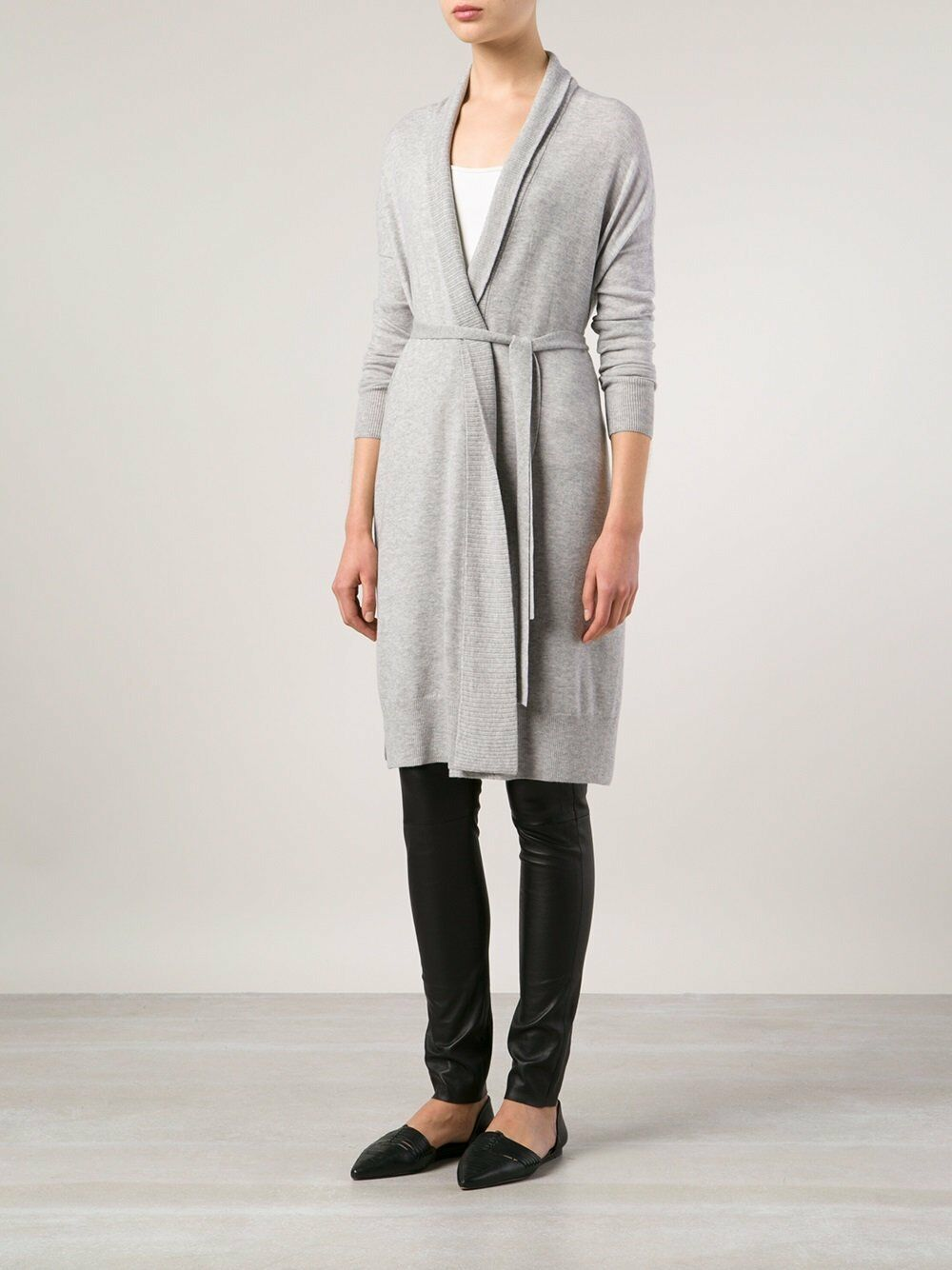NWT Vince Women's Grey Wool Blend Oversized  Sweater Cardigan, Size Large