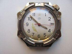 Russian-Vintage-Mechanical-Military-Wrist-Watch-WOSTOK-vostok-Komandirskie-USSR