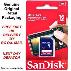 Sandisk 16Gb standard SD Scheda di memoria SDHC-Class 4 High Speed SD CARD