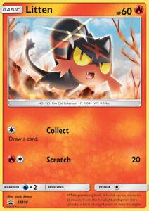 Pokemon-TCG-Sun-amp-Moon-Litten-SM08-Foil-Promo-Card-amp-Pikachu-Coin