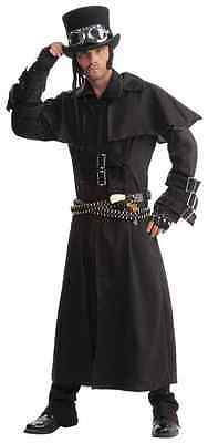 Steampunk Duster Coat Victorian Western Fancy Dress Up Halloween Adult Costume