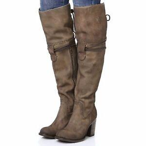 NIB RTL $395! Freebird BROCK Grey Suede Over-the-Knee Boots - Size ...