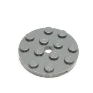 Lego 10 Stück Platte rund mit Loch 4x4 in schwarz 60474 Neu Basics Rundplatte