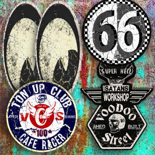CUSTOM  STICKER PACK BY VOODOO STREET™ brat cafe racer kustom special hot rod