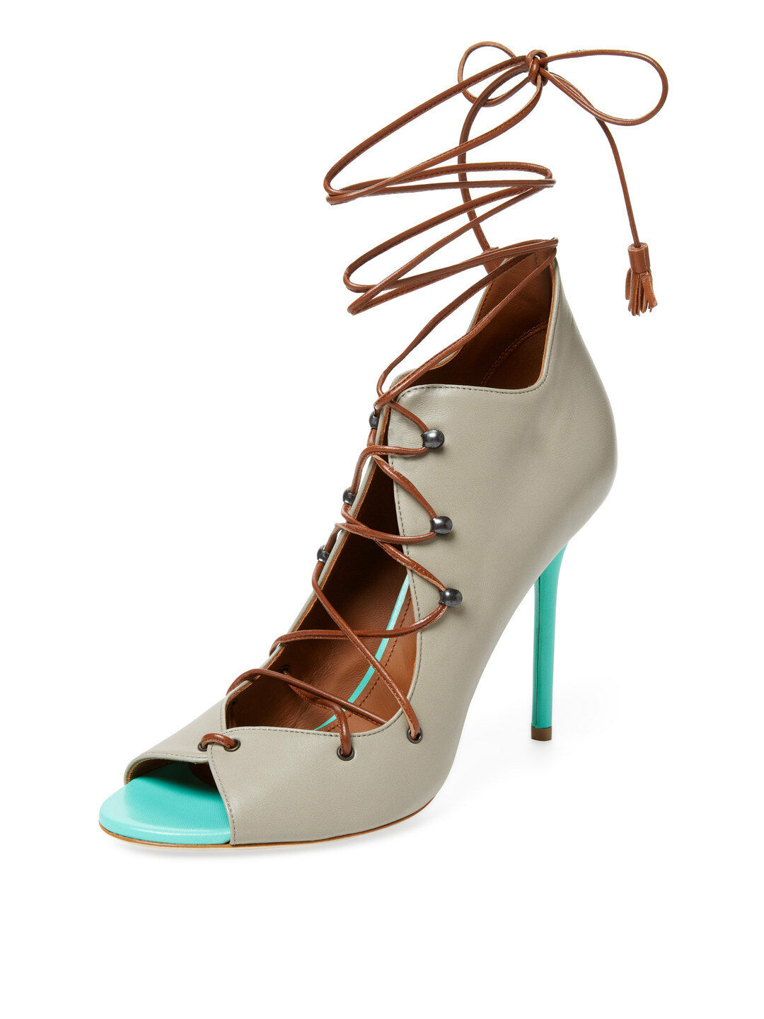 New malone souliers souliers souliers Savannah Lace-up Vamp sandals larice heels zapatos Stiletto 41 08b45d