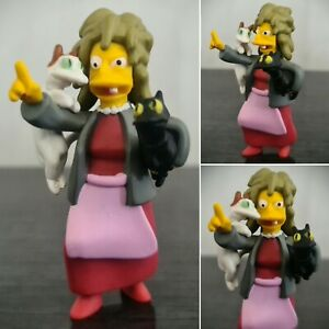 SUPER RARE The Simpsons Crazy Cat Lady Eleanor Collectable Figure Fox tpf.com.au