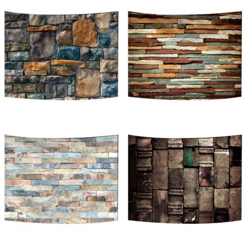 Stone Brick Tapestry 3D Printing Art Wall Hanging Retro Room Bedroom Dorm Decor