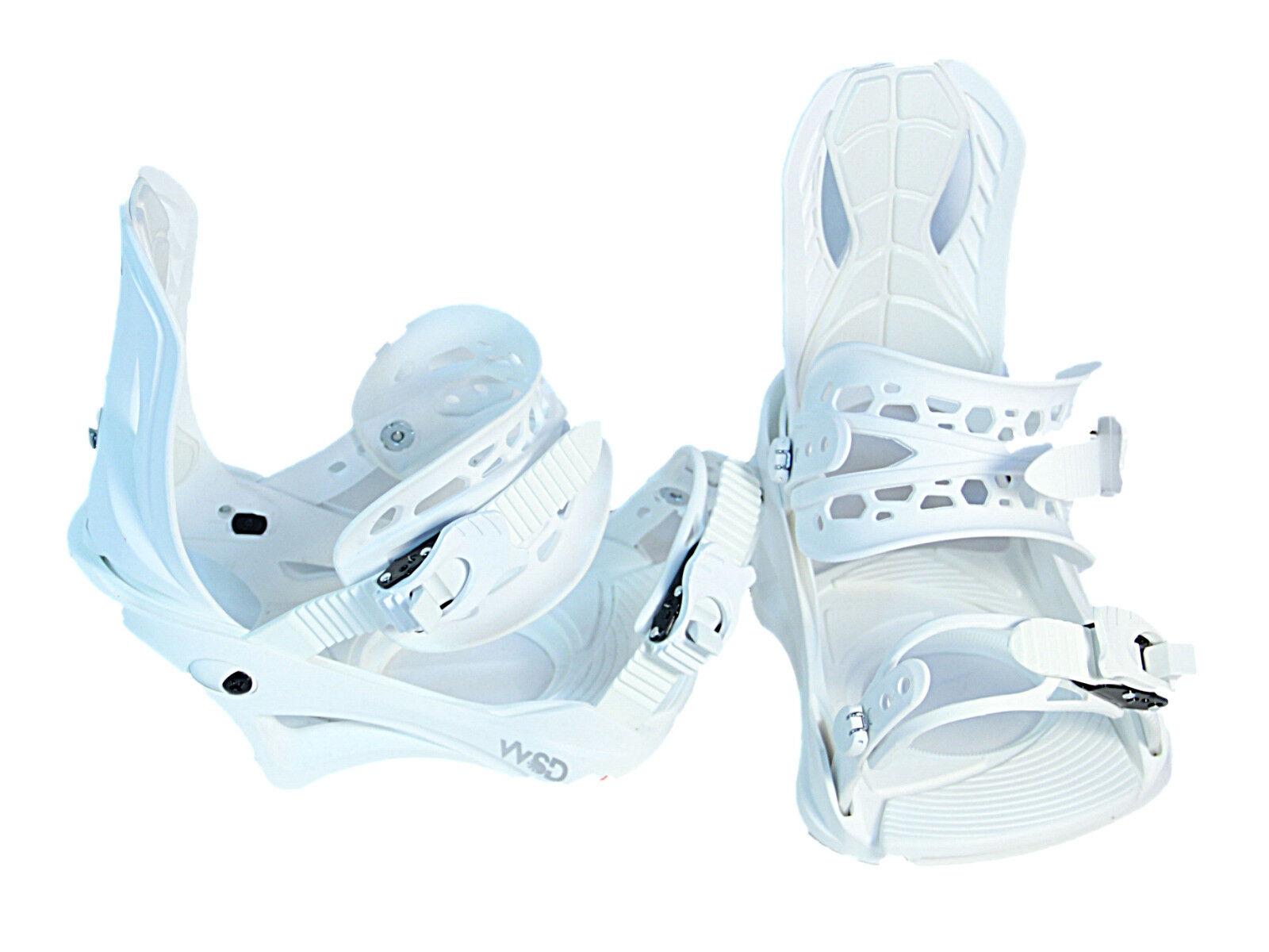 Snowboard bindings Pro women's 7-11US sizes White 2019 model no box New