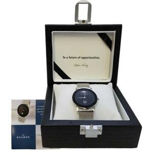 New-Skagen-Luxury-Ultra-Slim-Watch-28MM-Black-Face-Display-Box-No-Battery