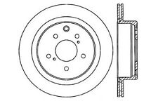 Disc Brake Rotor-High Performance Drilled Centric fits 89-96 Nissan 300ZX