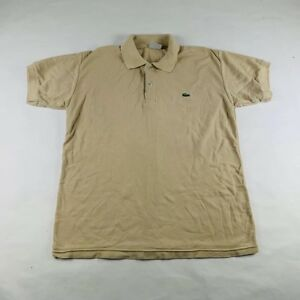 d922087bfb6 Lacoste Polo Shirt S S Light Tan Crocodile Logo Mens Size 5 Medium ...