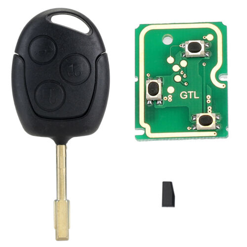 433MHZ 4D60 Chip Remote Entry Key Fob Case 3 Button For FORD MONDEO FIESTA FOCUS