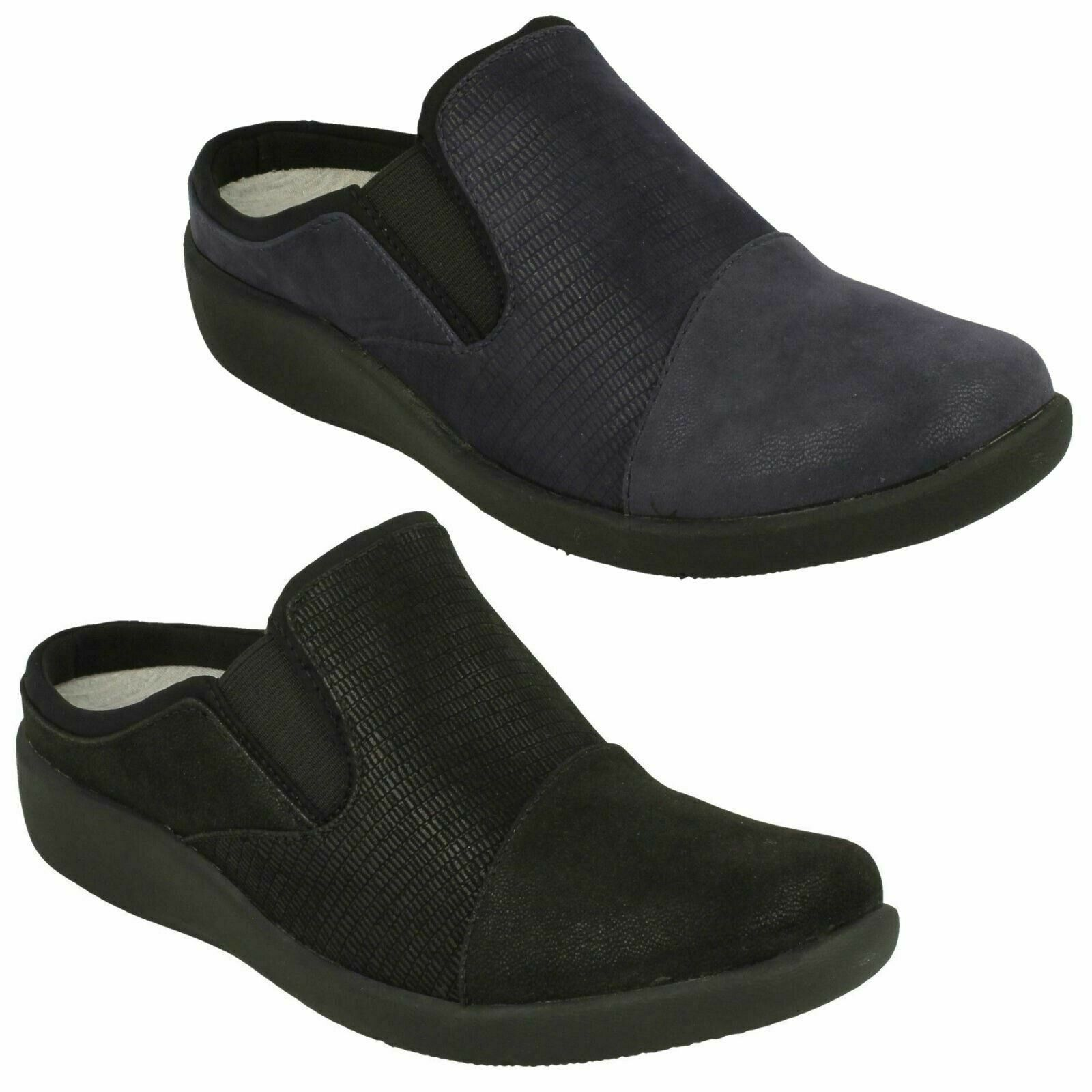 SILLIAN FREE LADIES Clerchen CLOUDSTEPPERS SLIP ON FLAT CASUAL MULES schuhe Größe