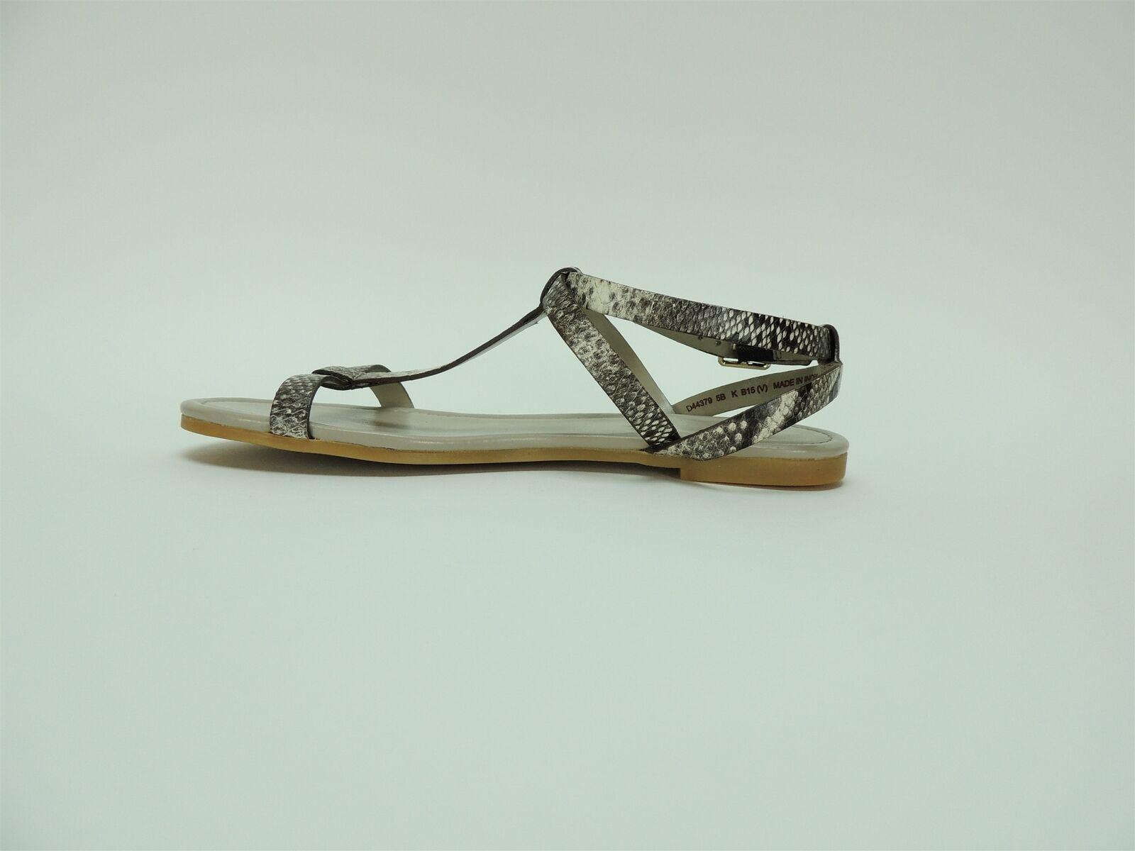 Cole Haan Donna  Roccia Roccia Roccia Murley II Flat Sandals Snake Print Leather Dimensione 5 B 39de6f