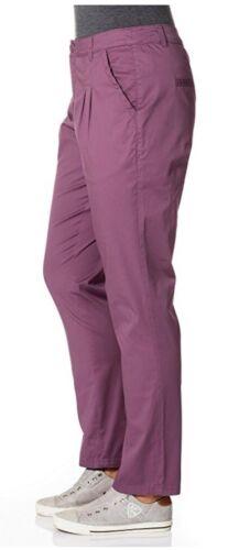 Sheego Damen Chinohose Hose Chino Stretch purpur lila Langgröße 771425