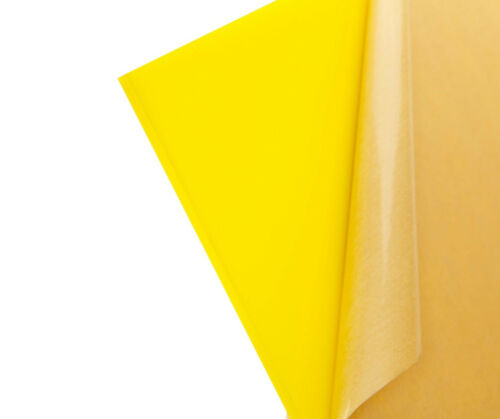 "Yellow Translucent Acrylic Plexiglass sheet 1//8/"" x 12/"" x 24/"" #2037"