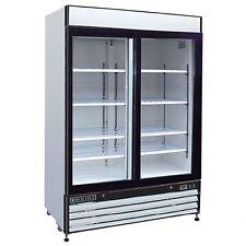 Maxx Cold Mxm2 48rs Reach In Refrigerator Two 2 Sliding Glass Door Merchandiser