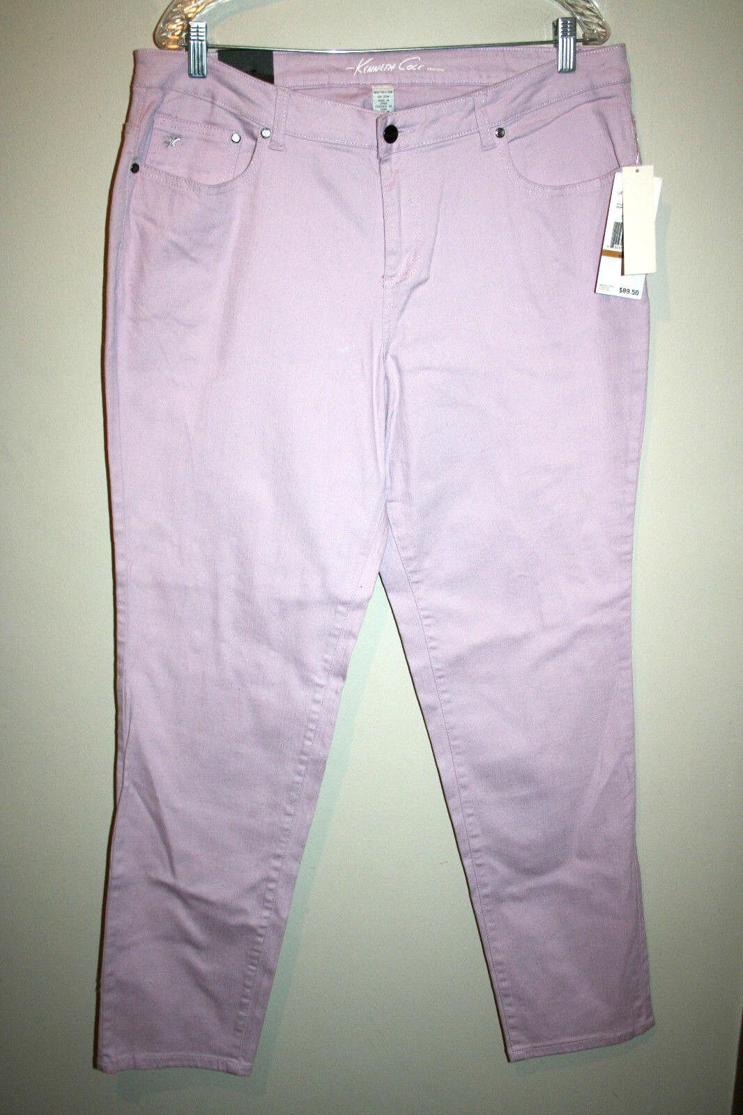 NWT Womens KENNETH COLE Slim Fit Lavender Purple Plus Size 16W 16 W NWT  89.50