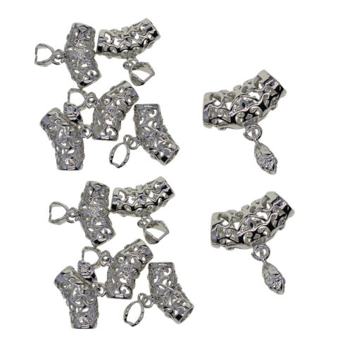 12pcs//pack Pendant Pinch Bails for DIY Jewellery Bracelet Making Decor