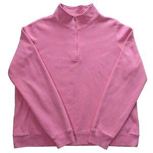 Izod Gold Pink Quarter Zip Sweater Jumper in Size XL Women's - 1/4 Zip Sweatshir