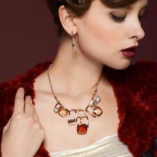 Designer Multi Coloured Austria Crystal Chain Choker Necklace Pendant Jewellery
