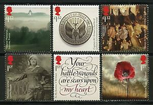 GREAT-BRITAIN-2016-WORLD-WAR-I-PART-3-SET-MINT-NEVER-HINGED