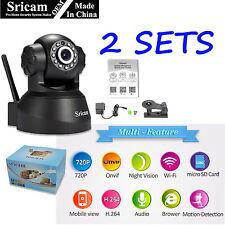 2Pack Sricam 1MP 1080P Wireless IP Camera WiFi Security Night Vision Cam