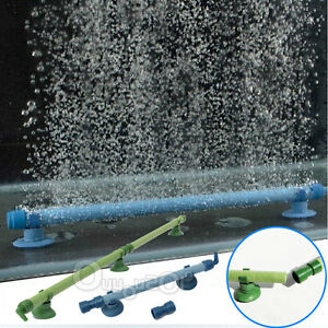 Blue Green Fish Tank Aquarium Decor Airstone Bubble Wall