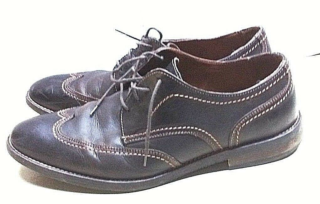 Johnston & Murphy Brown Leather Oxfords Wingtip Dress Casual Men's shoes 10.5 M
