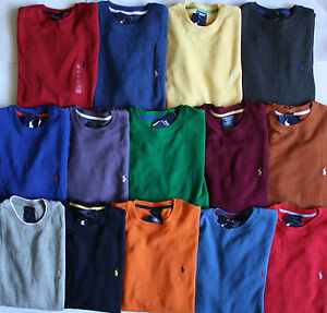65c3338d NWT Mens Polo Ralph Lauren Thermal Waffle Crewneck Long Sleeve Shirt ...