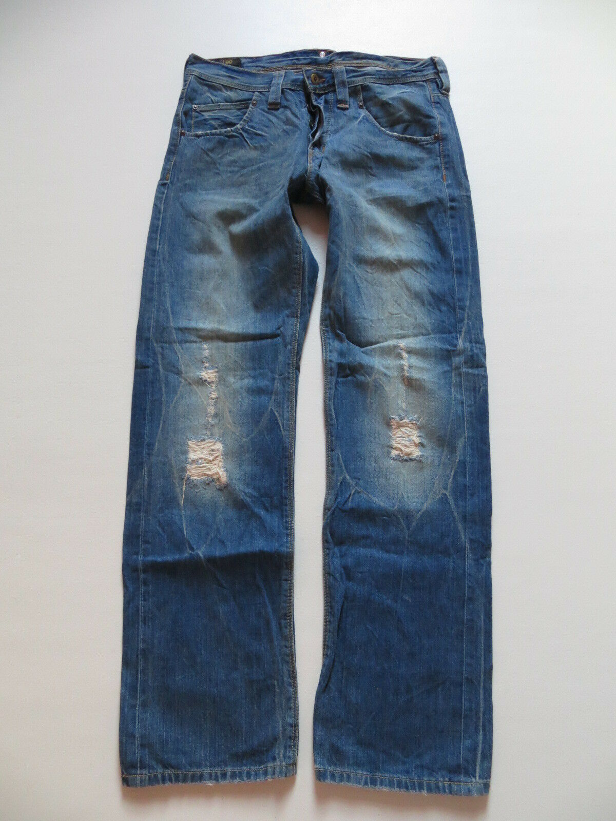 Lee RIPLEY Herren Jeans Hose W 32  L 34 original destroyed Denim Einzigartig