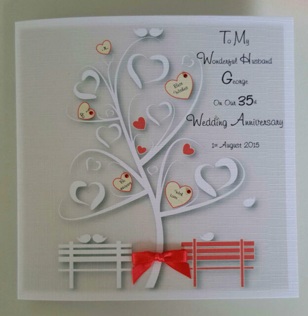 35th Wedding Anniversary Gift For Wife: Personalised On Our 35th Coral Wedding Anniversary Card